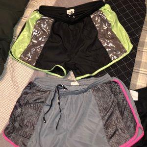 VS pink. Running shorts. 2 pairs. EUC.